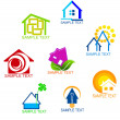 Real estate symbols — Stockvectorbeeld