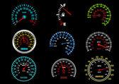 Araba hızölçerler — Stok Vektör