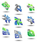 Set of abstract symbols — Stock Vector
