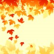 Autumn leaves background — Imagen vectorial