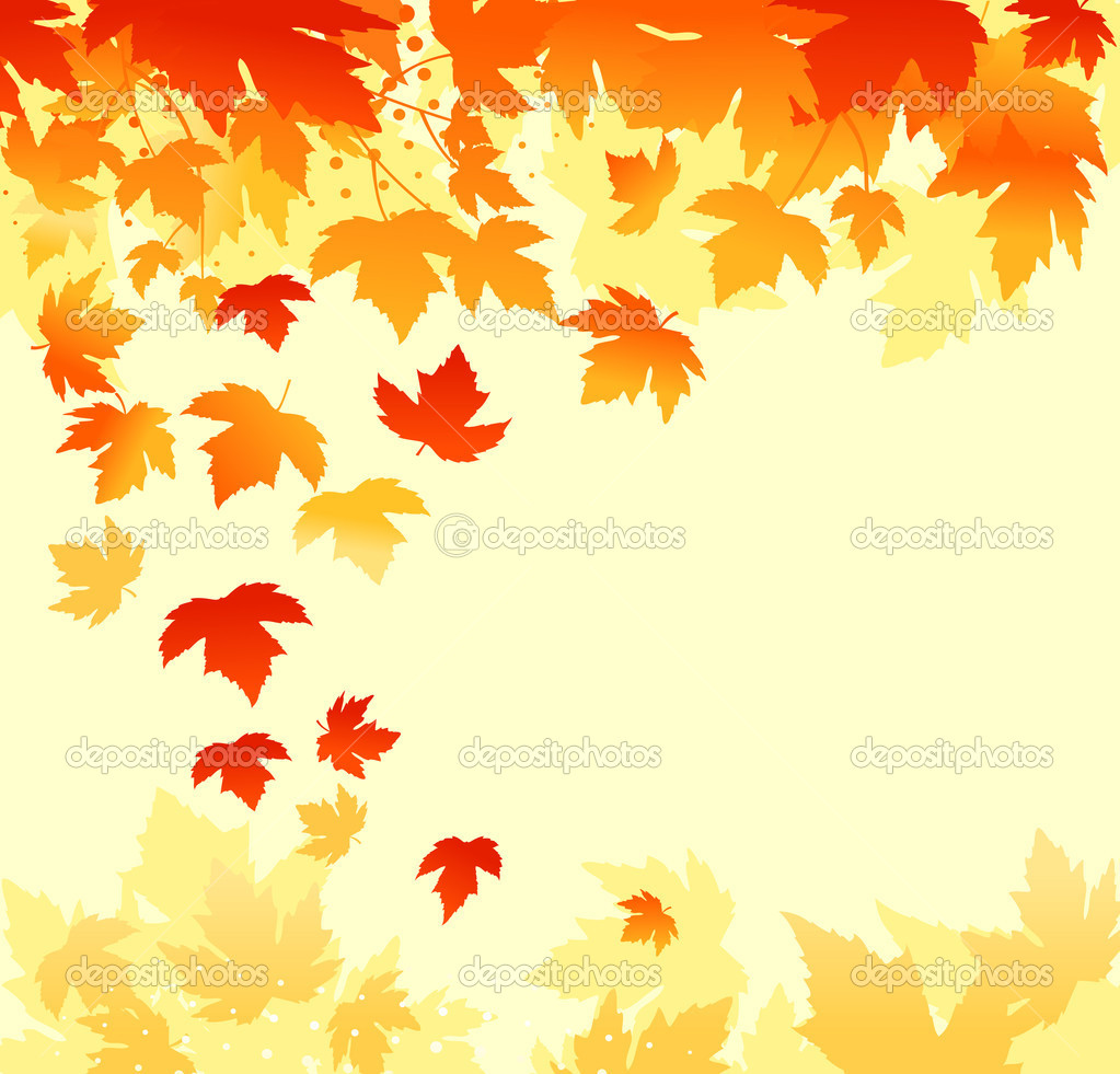 Autumn colorful leaves background for thanksgiving design — Stock Vector #4812863