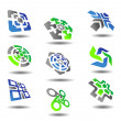 Set of abstract symbols - Stockvectorbeeld