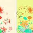 Flower background - Stockvectorbeeld