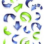Glossy arrow icons — Stock Vector
