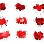 kırmızı mürekkep BLOB'ları — Stok Vektör