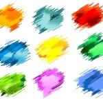 Ink blots — Stock Vector