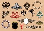 Heraldic elements — Stock Vector