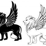 Heraldic lion — Stock Vector #4994640