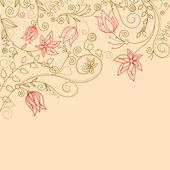 Fiore sfondo — Vettoriale Stock