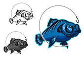 Carp fish — Stock Vector