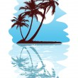 Abstact tropical — Vector de stock
