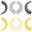 Set of laurel wreaths — Stockvektor
