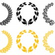 Set of laurel wreaths — Vettoriali Stock