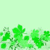 Blommig grön bakgrund — Stockvektor