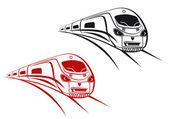 Railroad and subway symbols — Stock Vector