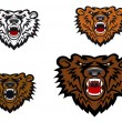 Stock Vector: Wild bear tattoo