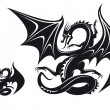 Fantasy dragon - Stock Vector