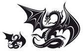 Dragon fantasy — Vector de stock