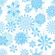 Stock Vector: Seamless snowflakes background