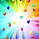 Festive color rays — Stock Vector #4512046