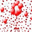 Balloons on hearts — Vettoriali Stock