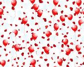 Balloons on hearts — Stock Vector