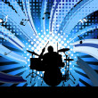 Rock group drummer — Stock Vector #5119160