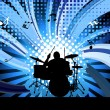 Rock group drummer — Stock Vector