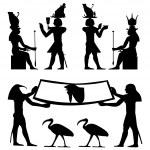 Egyptian hieroglyphs and fresco — Stock Vector #5332708