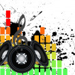 Stockvector : Musical grunge background