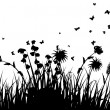 Royalty-Free Stock Векторное изображение: Meadow silhouettes