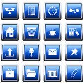 Jeu d'icônes de bureau et d'entreprise — Vecteur