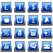 Financial icon set — Stock Vector