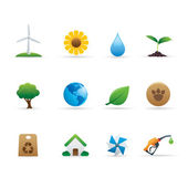 03 Ecology Icons Set — Stock Vector