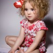 Stock Photo: Little girl in fashion clothes