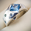 Retro old silver ring — Stock Photo #4739030
