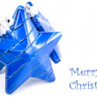 Royalty-Free Stock Photo: Collection of blue decorations for the Christmas tree