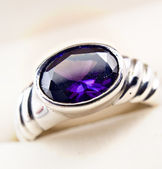 Retro old silver ring — Stock Photo
