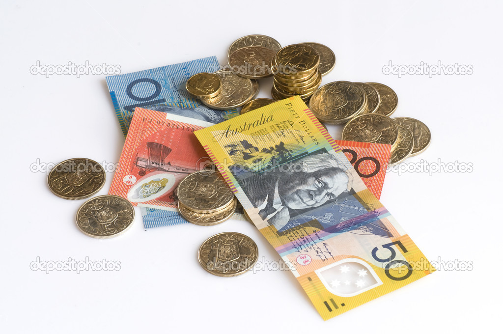 Australian banknotes and coins — Stock Photo #4053421