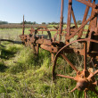Stock Photo: Rusting Old Farm Plough