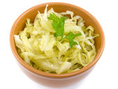 Plate coleslaw — Stock Photo