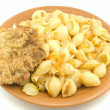 Macaroni on a plate — Stock fotografie