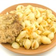 Stock Photo: Macaroni on a plate