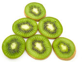 Some segments of a kiwi — Stock Photo