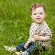 Royalty-Free Stock Photo: Boy on grass