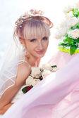 Happy bride — Stockfoto