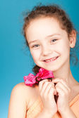 Cute child in studio — Stock Photo