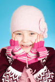 Little girl in warm clothes — Stock Photo