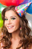 Girl celebrating birthday — Stock Photo
