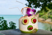 Exotic coconut cocktail — Stock Photo